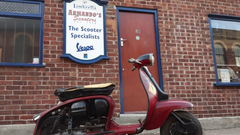 Lambretta Li125 Mk3 No Side Panels