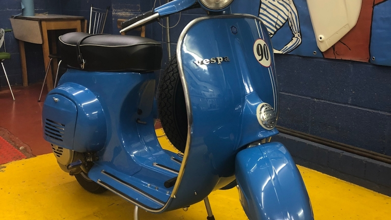 Latest Restoration 1966 Vespa 90