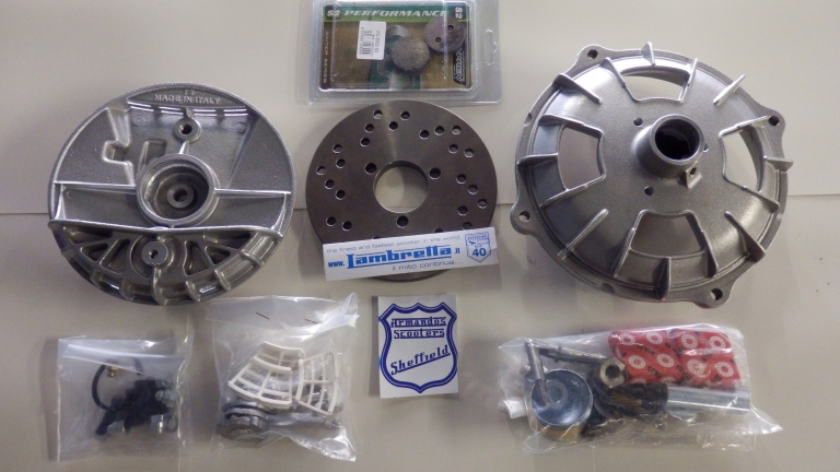Lambretta Front Brake Disc Assembly Made in Italy