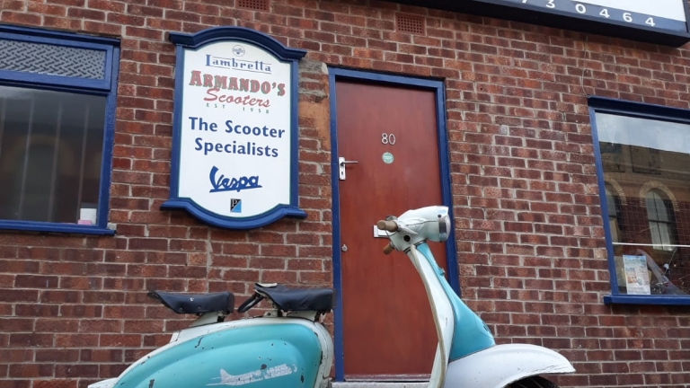 Lambretta Li150 Mk2 Blue and White